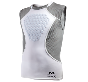 McDavid Heart Guard 7610 Youth Adult Hex Sternum Shirt-White//Gray FREE POSTAGE