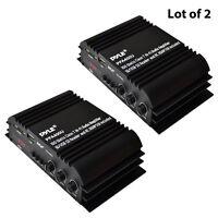 Lot Of 2 Pyle Pfa400u 100w Class T Hi-fi Amplifier Usb/ Ipod Player W Ac Adapter on sale
