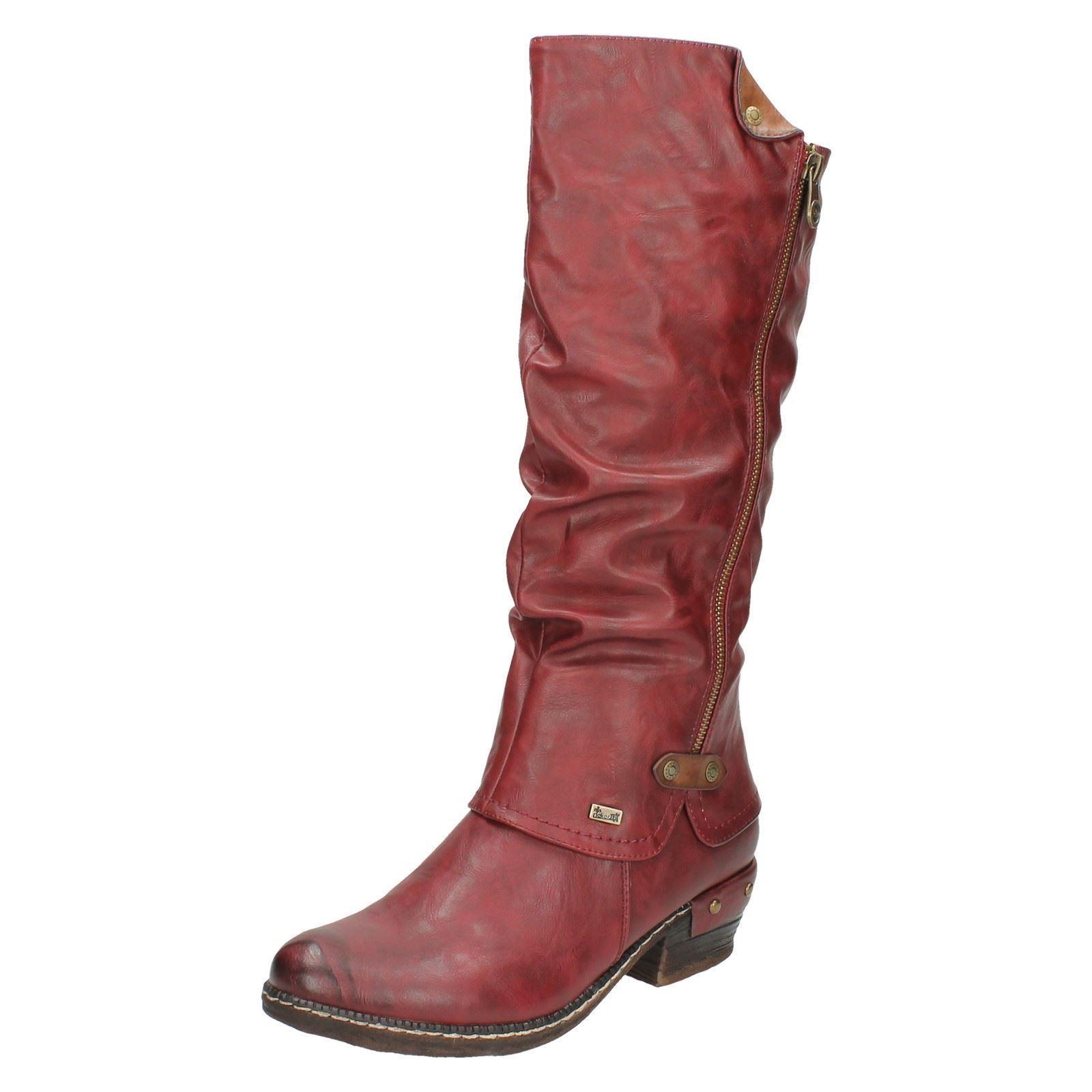 Damen Rieker 93655 Stiefel Freizeit Warm Gefüttert Lange Stiefel 93655 cbc3c4
