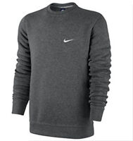 Nike Men's 611467-071 Classic Fleece Sweatshirt Charcoal S M L XL XXL 3XL