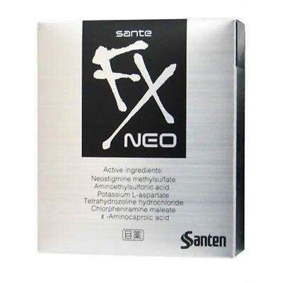 Sante FX NEO Cooling Eye Drops 12ml Made in Japan New Santen Eyedrops
