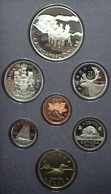 1992 Canada Proof Double Dollar Set
