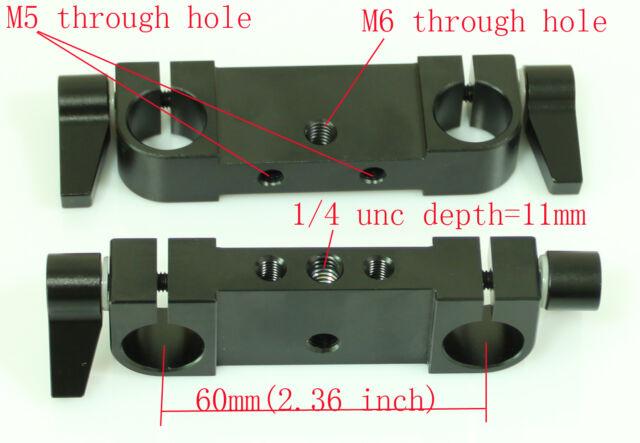 2pcs New RailBlock Rod Clamp for 15mm rod DSLR Rig Rail System tripod camera 5D2