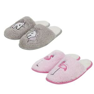 Ladies Bright Pink UNICORN Ballerina Slippers Size 3 4 5 6 7 8