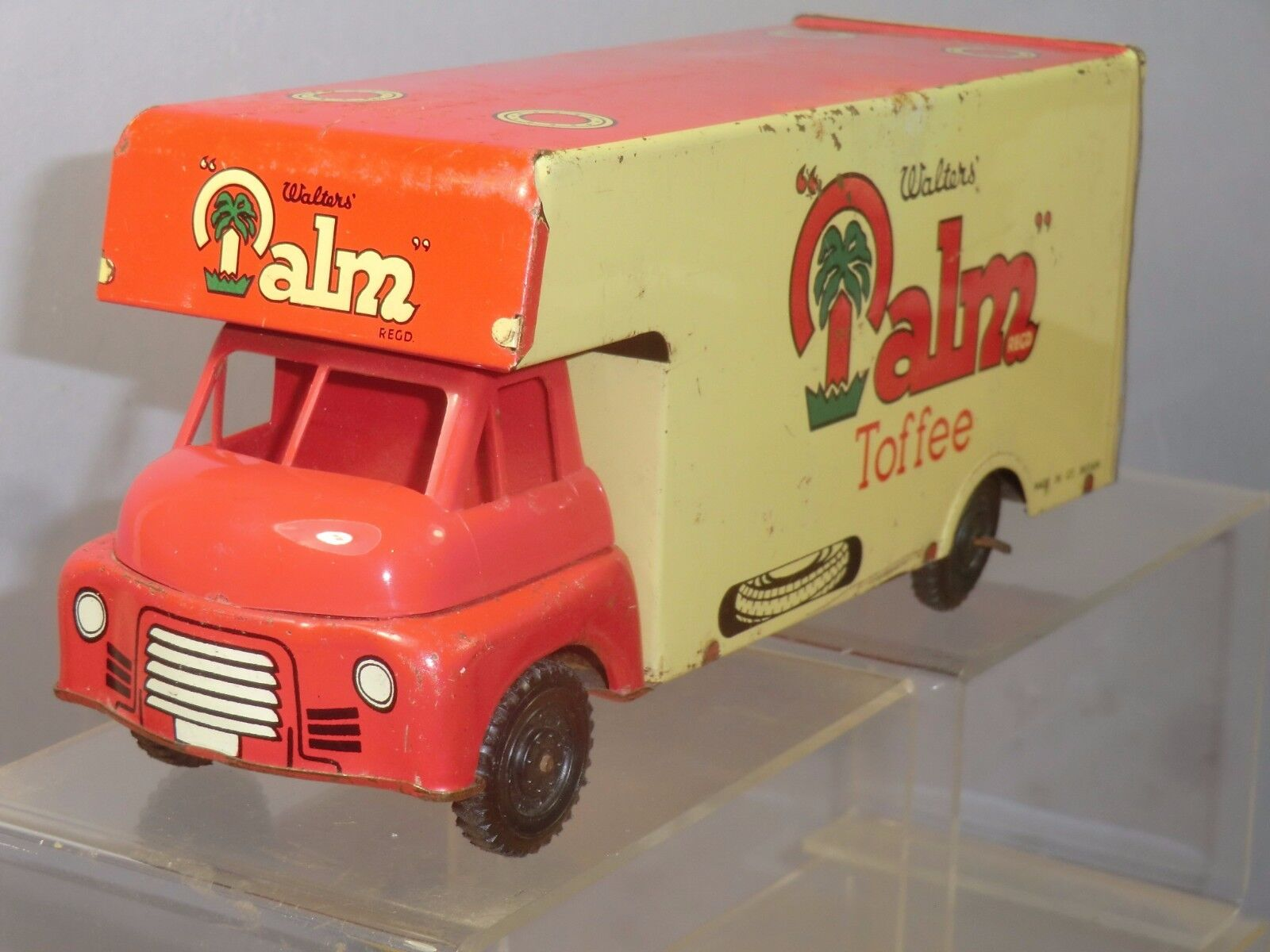 VINTAGE WELLS BRIMTOY TINPLATE   FRICTION No.6XX    PALM TOFFEE   DELIVERY VAN