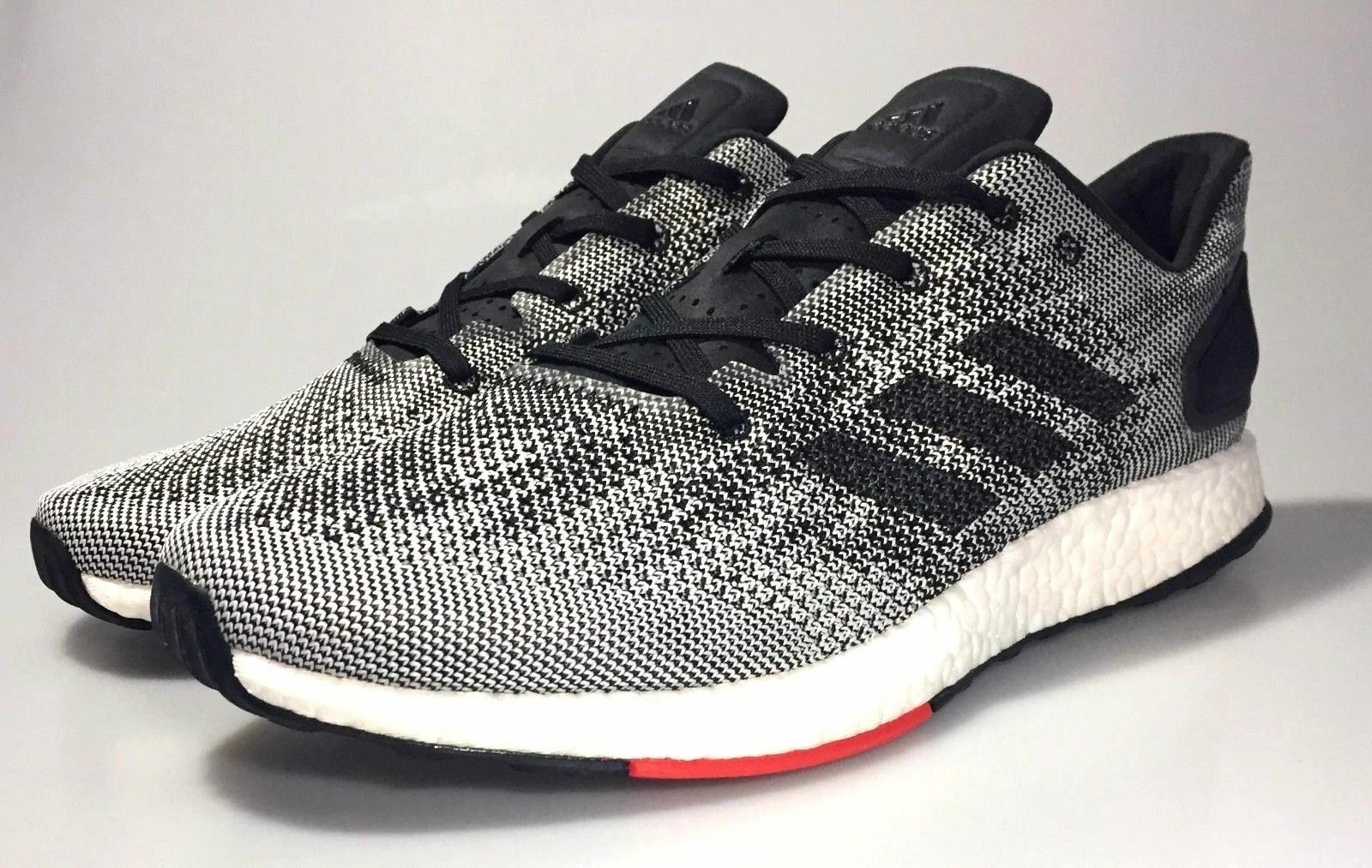 98686ad399476 Adidas Pureboost DPR DPR DPR NEW Men s Running Shoes Boost S80993 Gray  White Black Red 282d90