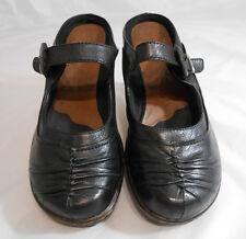 Bear Traps PORSHA Black Leather Mary Jane Wedge Mules Shoes Womens Size 9.5 M