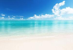 Das Bild Wird Geladen Fototapete Tapete Strand Sand Wasser Meer Blau Himmel