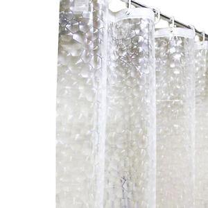 Neuf Transparent 3d Peva Mosaique Bain Rideau Douche Extra Long Ebay