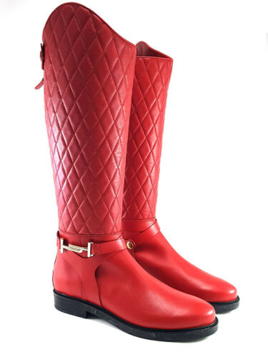 Tod's Red Leather Knee-high Boots Women's Shoes Size US 11.5//EU41.5