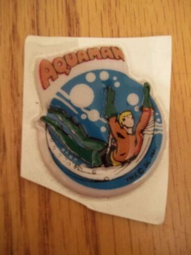 VINTAGE RARE 1971 LOT OF 2 DC COMICS PUFFY STICKERS AQUAMAN /& THE FLASH