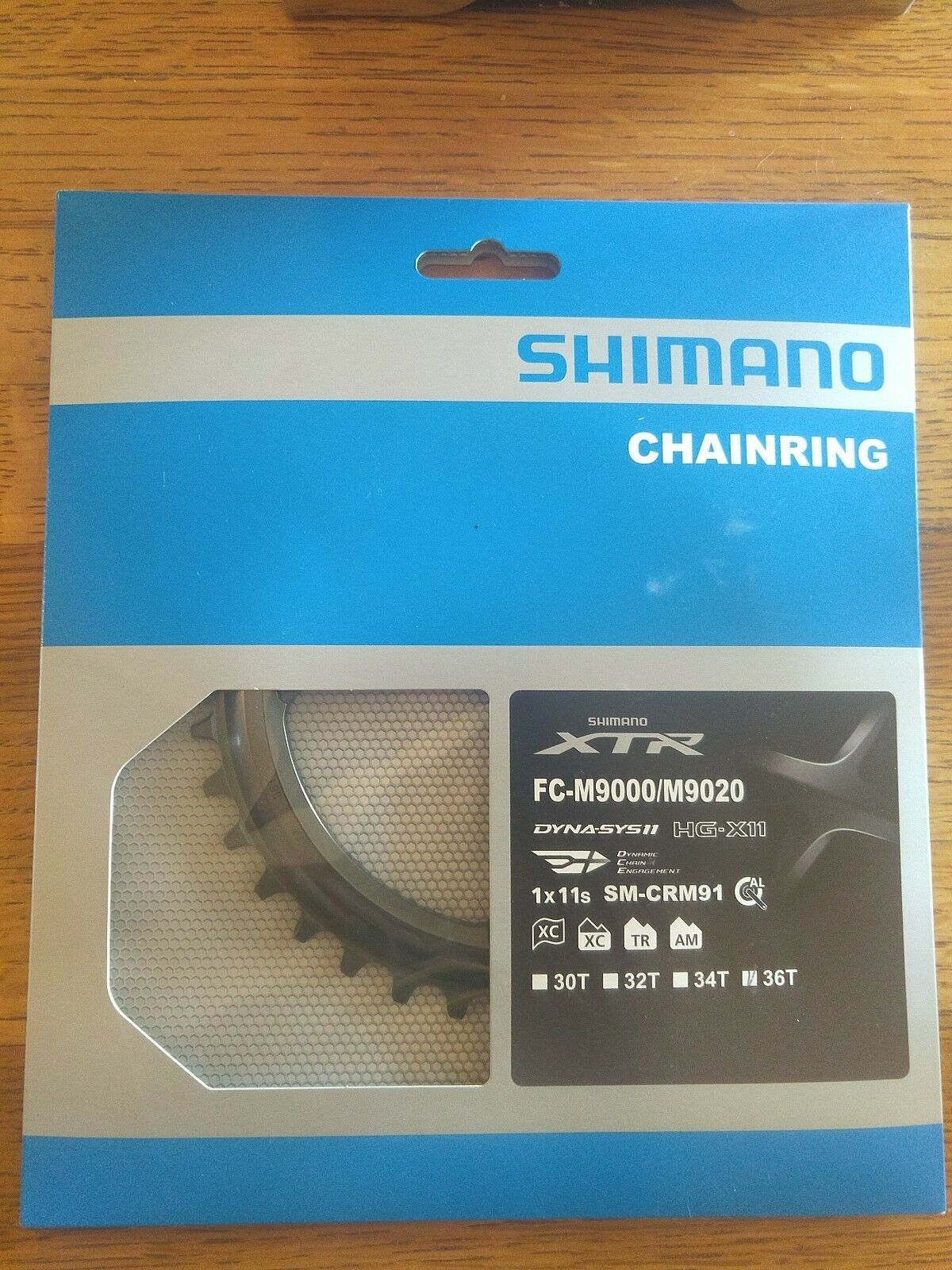 SHIMANO XTR SM-CRM91 solo plato 36T M9000 9020, Nuevo, perfil estrecho ancho