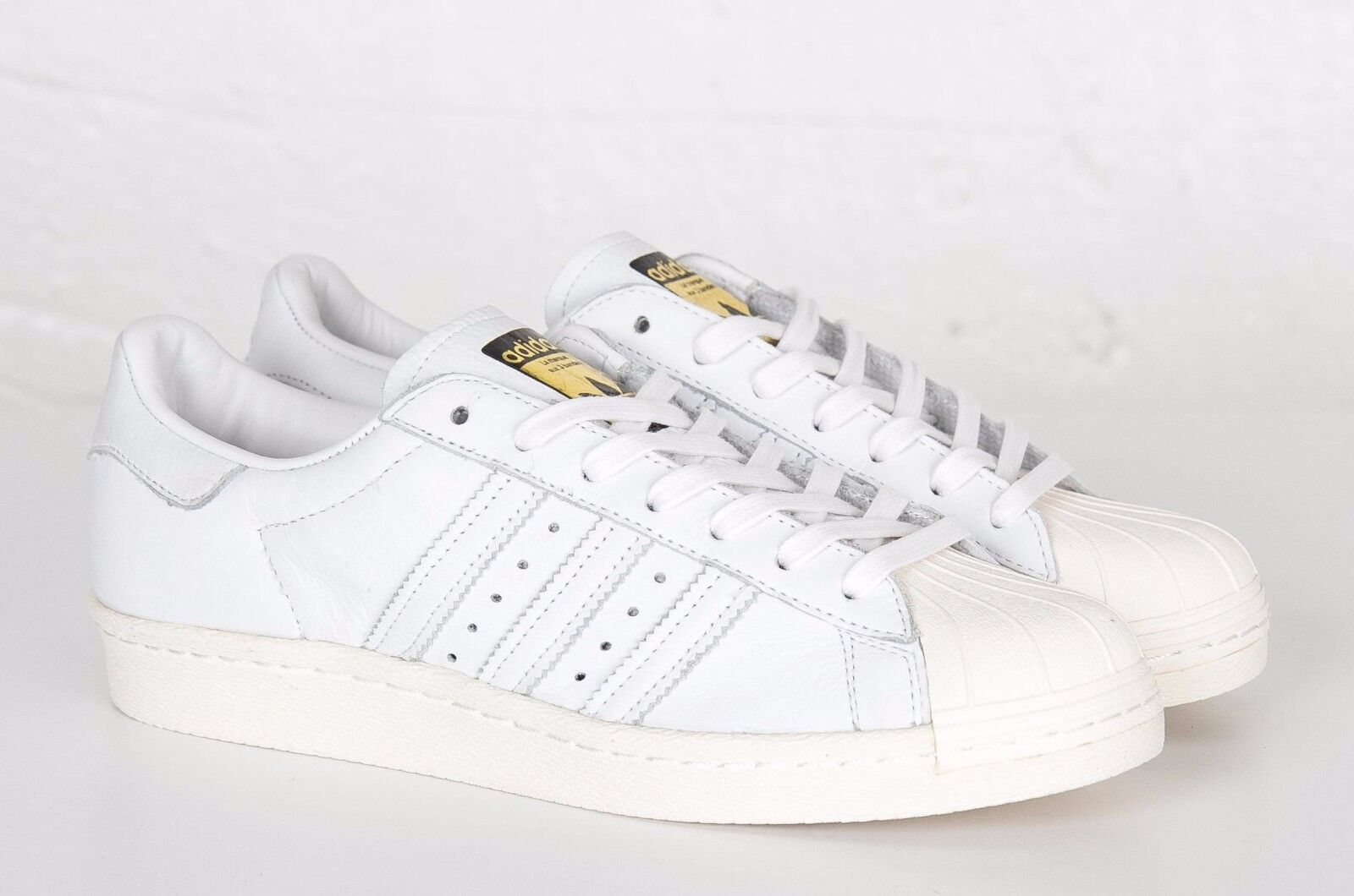 Adidas Originals Superstar 80s DLX Trainers Men's / Women's Leather Shoes White