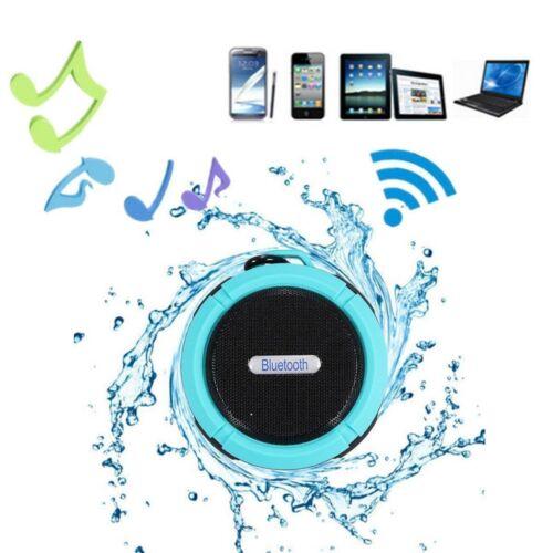 Wireless Bluetooth Speaker Waterproof Sucker Subwoofer Super Bass Stereo Player