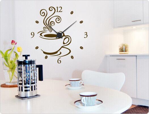 Murales reloj  café  parojo Pegatina reloj de parojo cocina adhesivos reloj de cocina