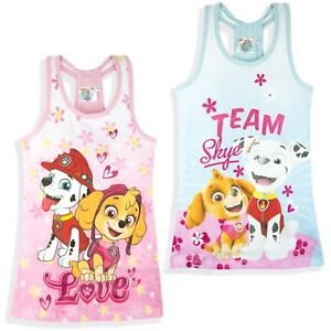 Paw-Patrol-Nickelodeon-Robe-ete-fille-haut-tunique-long-100-coton-neuf-2018