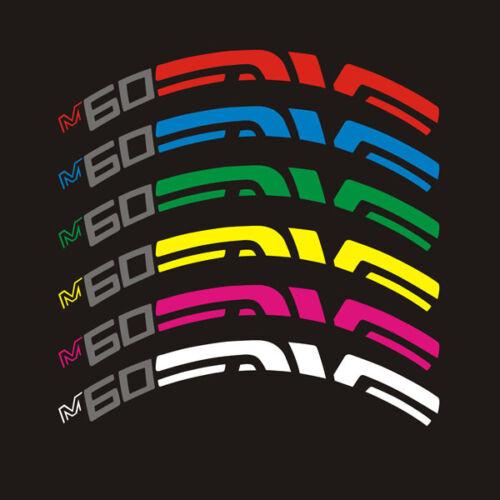 EVNE M60 Bicycle Wheel Rim Decals Sticker MTB Bike Racing Cycle 26ER 27.5ER 29ER