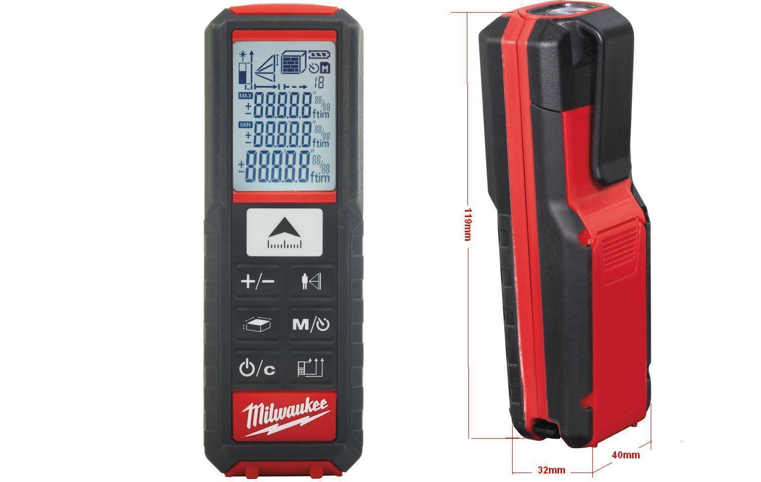 Milwaukee LDM 50  Laser-Entfernungsmessgerät mit 3xAAA Batterien 4933447700