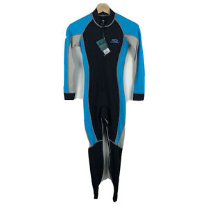 Aropec-Womens-Lycra-Swimsuit-Wetsuit-Full-Length-Size-Small-Blue-NWT