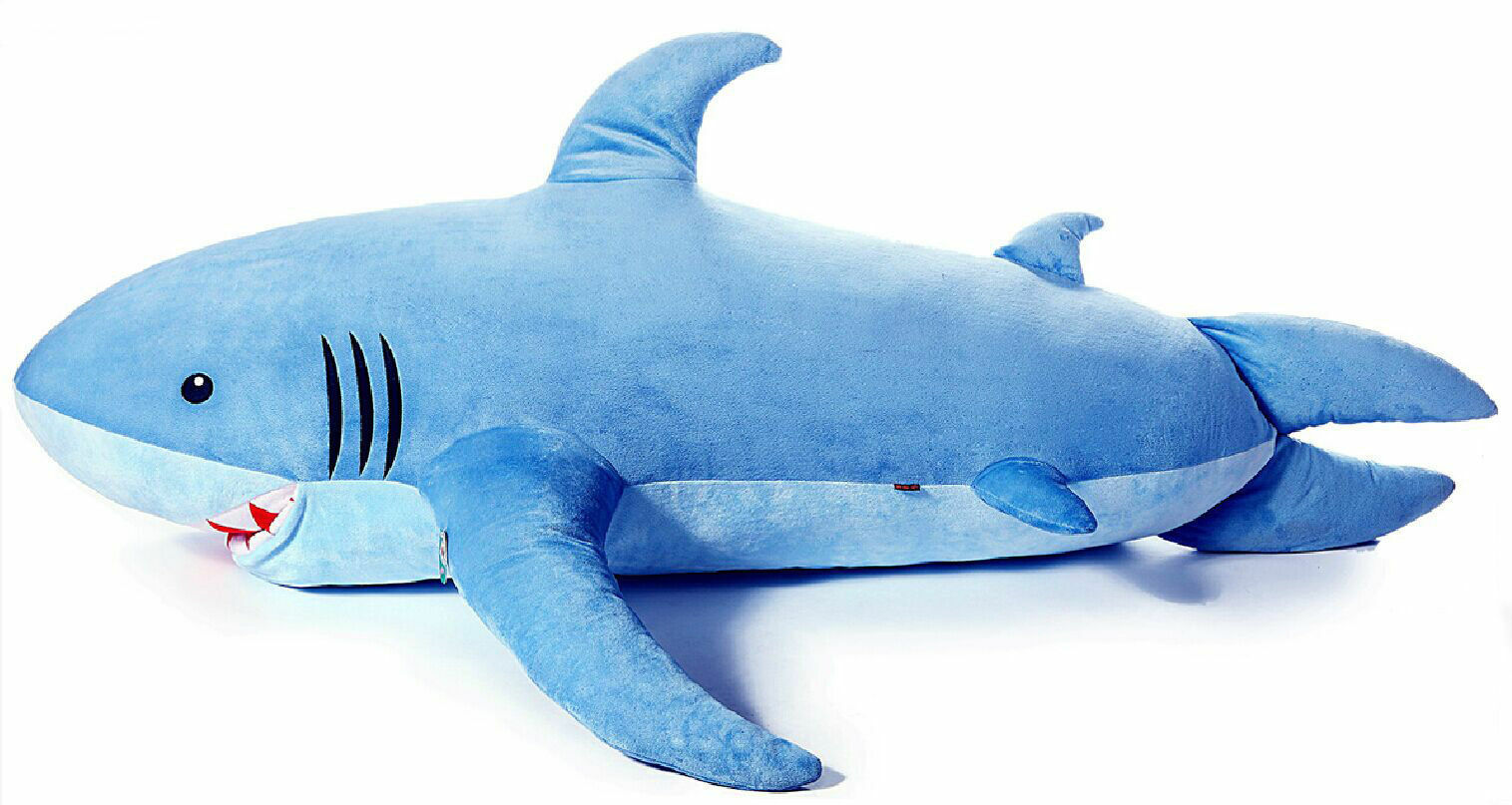 115cm New New New Huge Shark Stuffed Animal Stuffed Animals Plush Baby Toys Pillow Gifts bc62f6