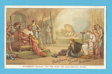 PEEK FREAN & CO. - RARE ADVERTISING CARD - SHAKESPEARE -  REF.  PF-7-1  - 1884
