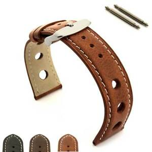 Men-039-s-Genuine-Leather-Watch-Strap-Band-Rally-Racing-18-20-22-24-Twister-MM