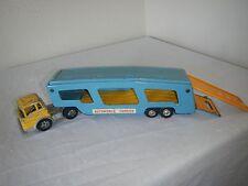 HUBLEY Toy Truck Car Carrier Semi Truck Trailer Vintage Diecast Metal Steel Toys