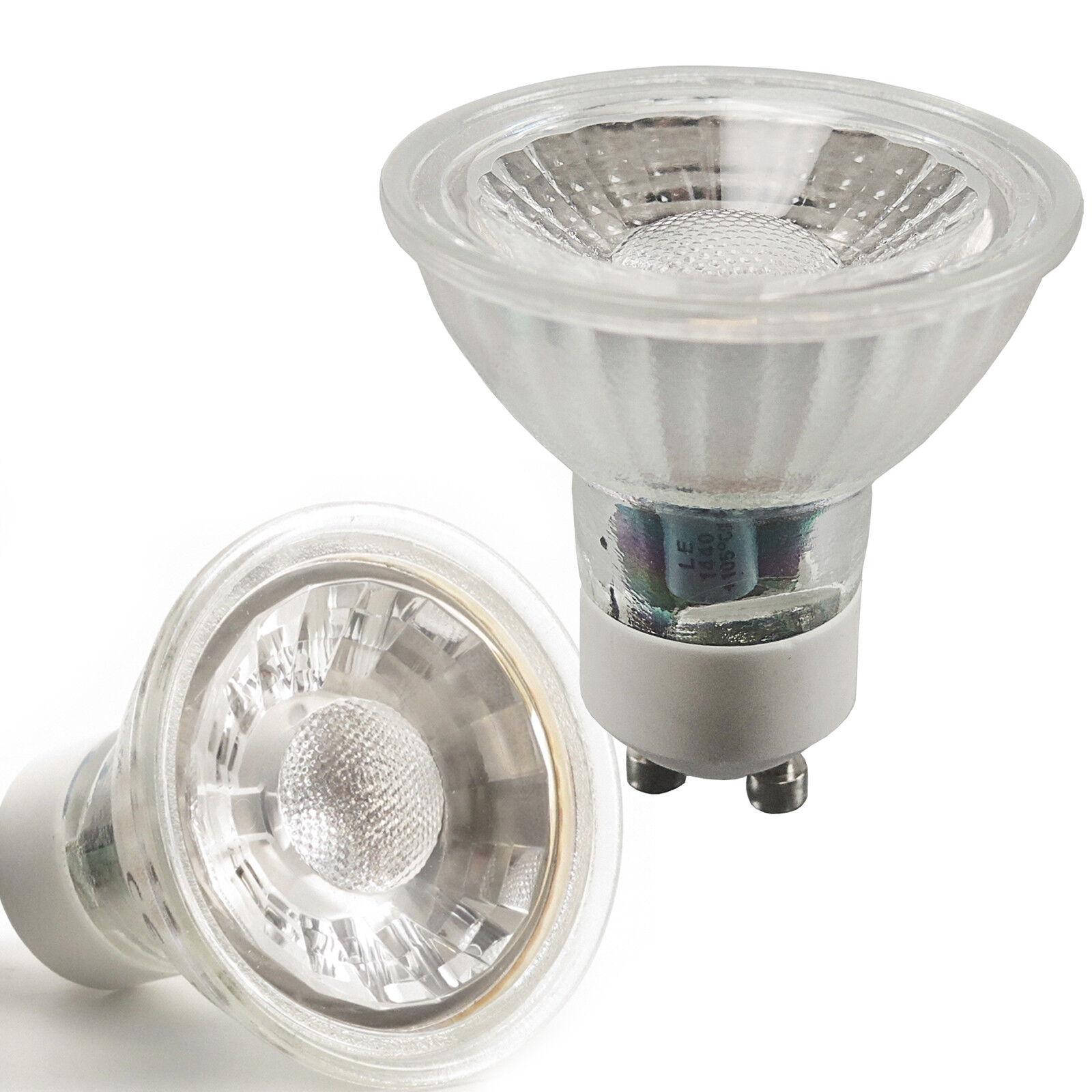 5 10 20x LED MCOB Leuchtmittel Glas GU10 230V 3W 5W Lampe Birne Spot Licht