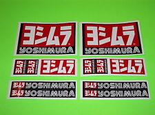 KX KXF RM RMZ YZ YZF CR CRF 85 125 250 450 YOSHIMURA EXHAUST STICKERS DECALS