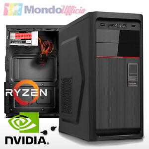 PC-Computer-AMD-RYZEN-5-1600-6-CORE-Ram-16-GB-SSD-M-2-250-GB-nVidia-GT730
