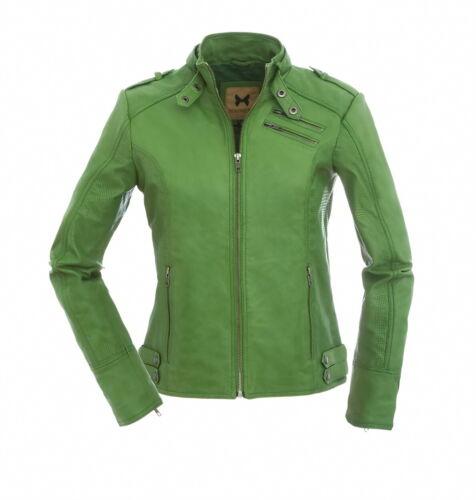 Magnifica Damen Lederjacke Valery in frischem Grün aus Lammnappa Leder NEU