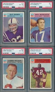 1966-Philadelphia-Football-Group-Lot-of-4-PSA-Cards-PSA-6-PSA-5-incl-HOF-039-ers