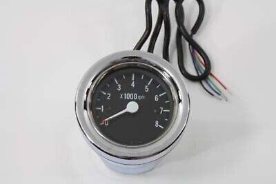Chrome 60mm Black Electric Tach Tachometer fr Harley Sportster Softail FXST FLST