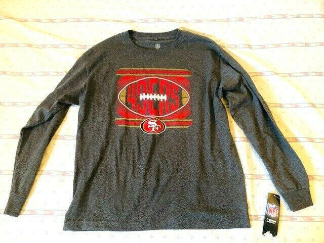 49ers Long Sleeve T-shirt -xl Boys 18/20 - Brand New
