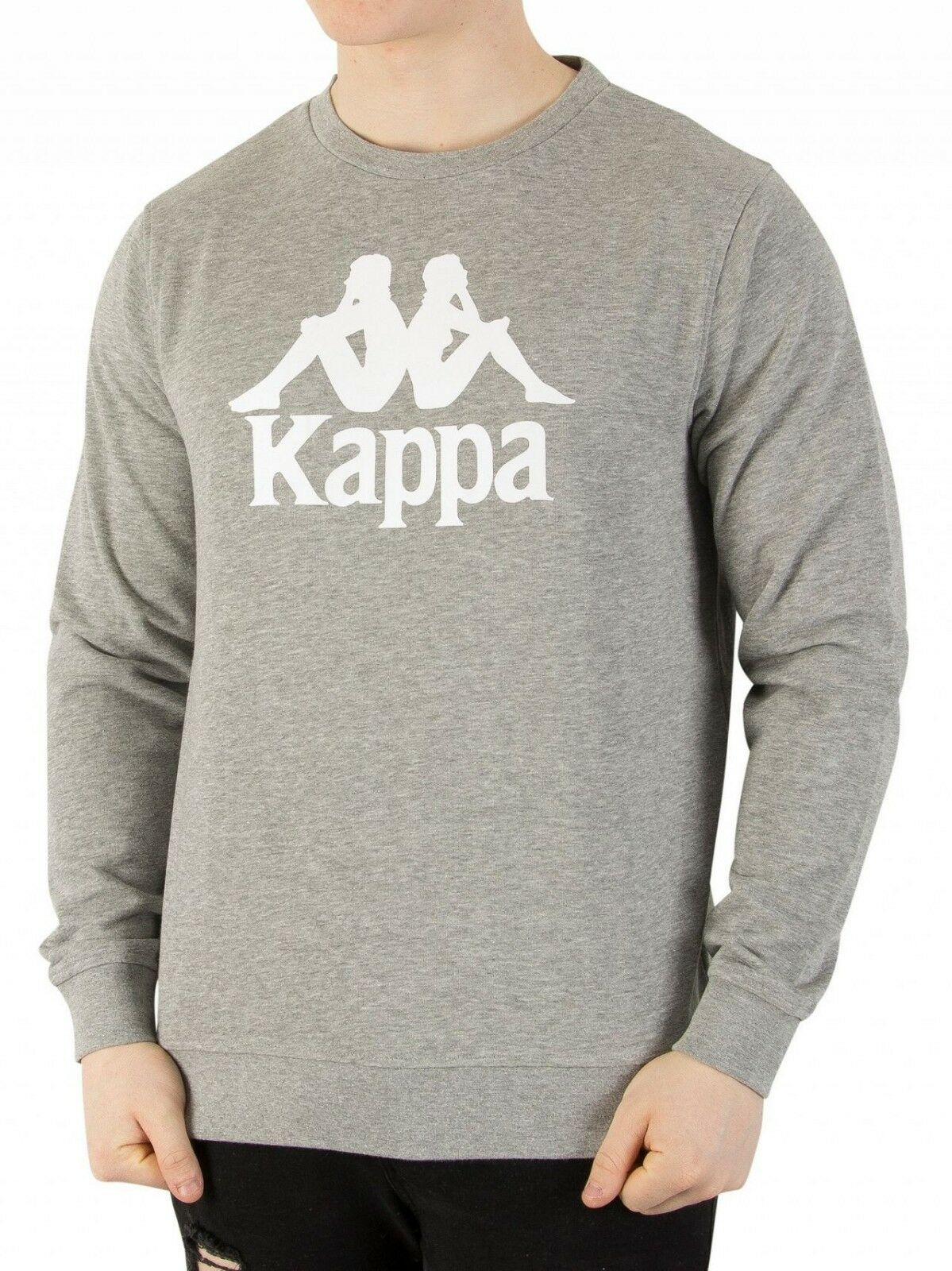 KAPPA AUTHENTIC Zemin shirt grigio con logo 303wiv0