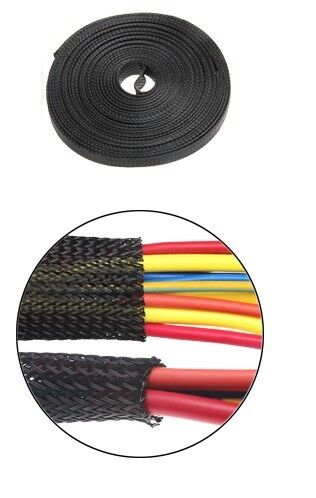10 m Tressé Gaine extensible Loom Harness Protector 25 mm Mure Ebs-25