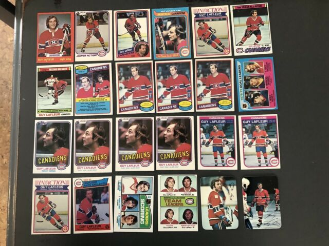1970's And 1980's Guy Lafleur 24 Card Lot Montreal Canadiens