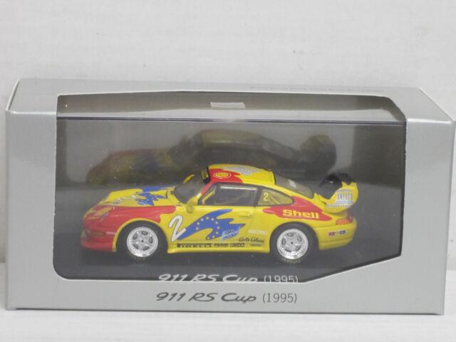 """Porsche 911 RS Cup, gelb/rot, 1995, Nr. 2 """"Shell"""", Minichamps, 1:43, Porsche-OVP"""