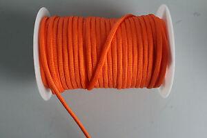 2 Km Paracord 2*4 Mm Orange 100% Nylon-afficher Le Titre D'origine Facile à Lubrifier