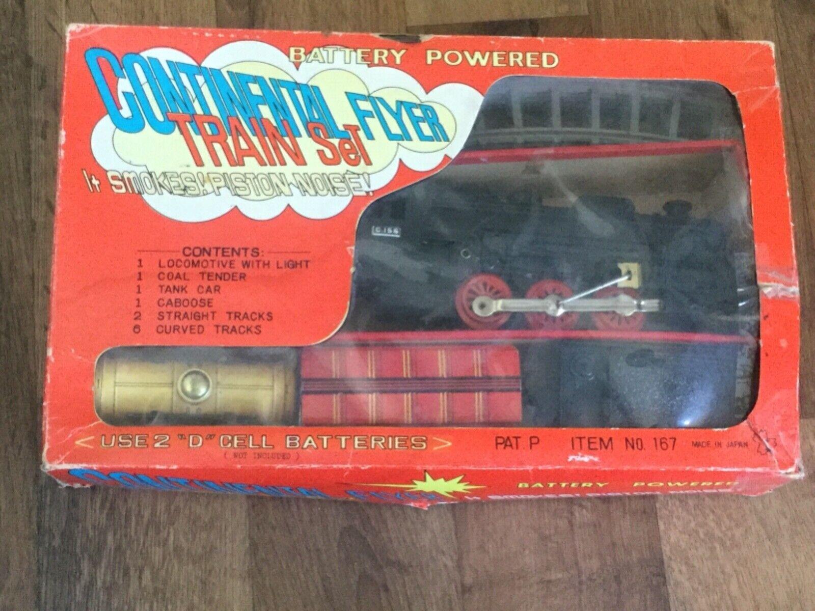 Vintage Yonezawa Battery Operated Continental Flyer Train Set in Original Box