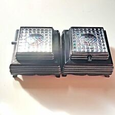Set of 2  - 3 Color LED Light Base - Black Base
