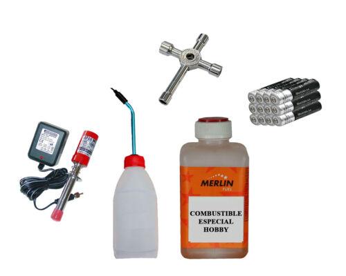 Kit de arranque para coches de radiocontrol de gasolina