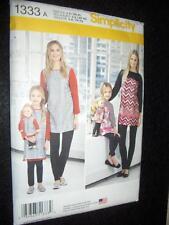 Matching Child Mom Doll Tunics Knit Leggings Simplicity Pattern 1333