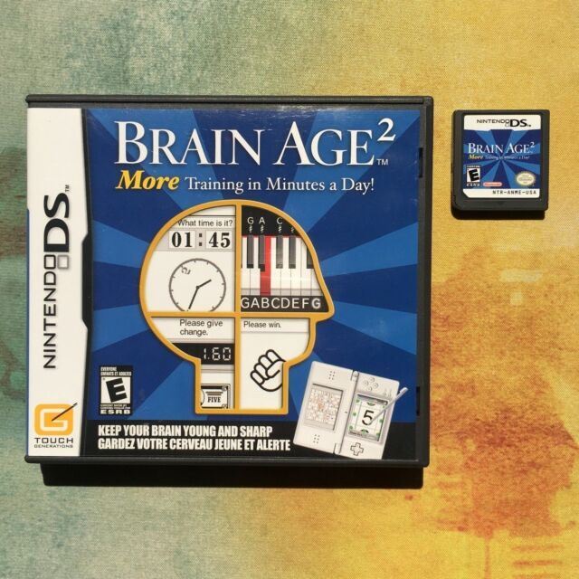 Brain Age 2: More Training in Minutes a Day! - Nintendo DS - Free Shipping!