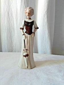 Statuette de femme belle époque en porcelaine