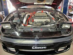 CXRACING Twin Turbo Intercooler Kit For Mitsubishi 3000GT Dodge
