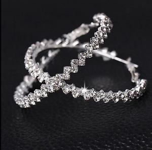 Elegant-Luxury-Hoop-Round-Dangle-Earrings-Jewelry-Crystal-Diamante-Rhinestone