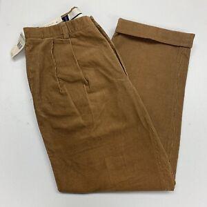 Polo-Golf-Ralph-Lauren-Tan-Corduroy-Pants-Mens-36-Trousers-New-Tags