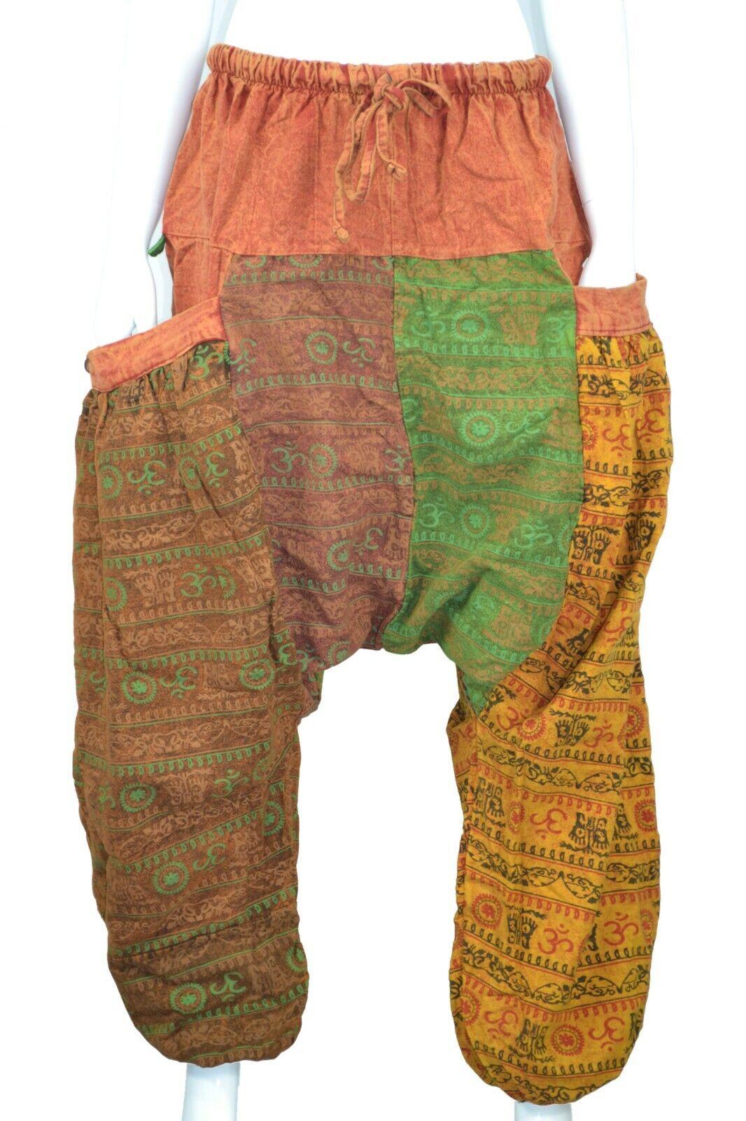 Alibaba Baggy Harem OM Multi Colour Monk Trousers Hippie Trouser Pant Unisex