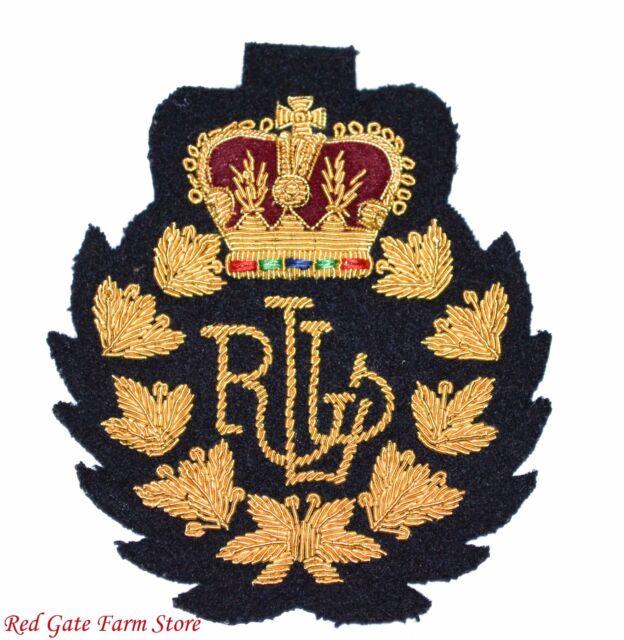 Vintage Blue  Ralph Lauren Logo Patch Crown Crest RLL  RL33